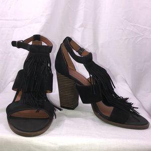 Lucky Brand 7.5 Leesha Black Career Party Heels
